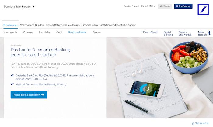 Deutsche Bank Gemeinschaftskonto Leistungsstark Und Zuverlässig