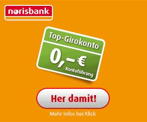 norisbank Top-Girokonto: 0 € Kontoführung + 100 € Prämie