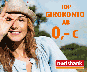 norisbank Girokonto: Ab 0 € Kontoführung mit 75 € Prämie